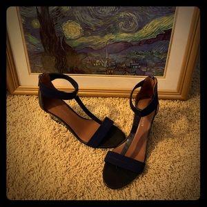 Navy Blue Donald J Pliner wedge sandals